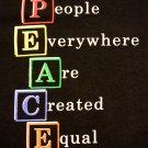 PEACE T Shirt Black