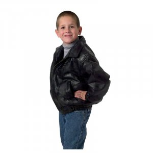 Children's Genuine Leather Jacket