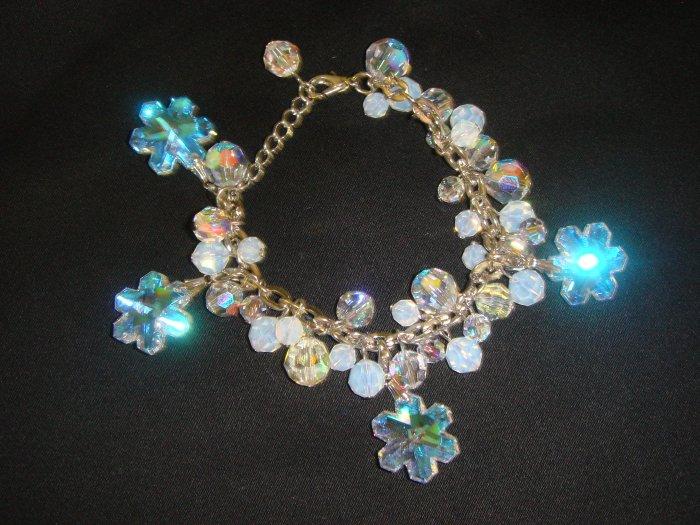 Swarovski Crystal Snowflakes Bracelet (XO-7) $129.99