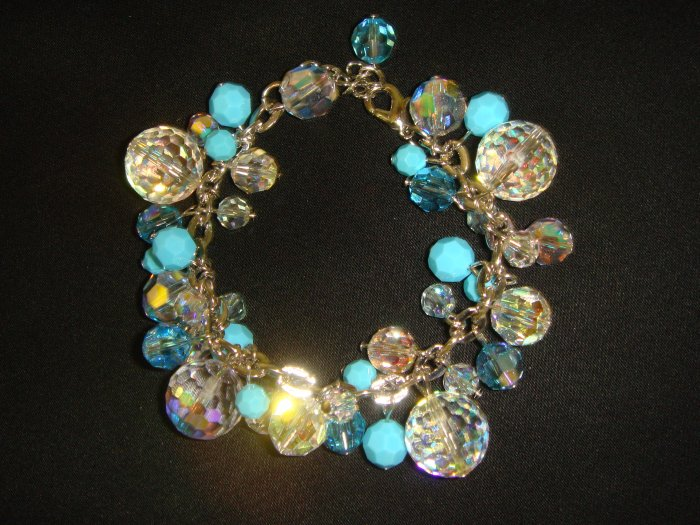 Light Blue Swarovski Crystal Bracelet