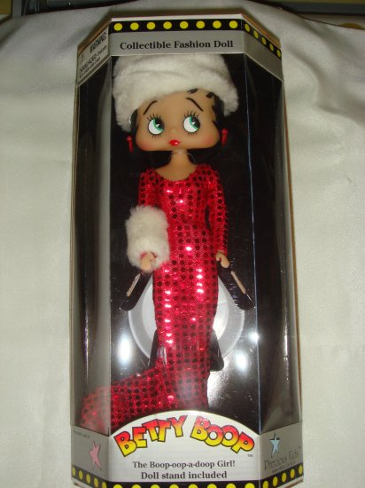 Betty Boop Collectible Fashion Doll - w/ Hat & Muff, 3/12 $34.99
