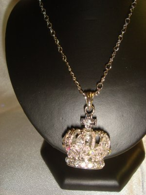 crystal3D Crown necklace #071-331 $29.99