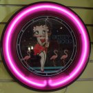 Betty boop with 3 flamingoeswall Neon Clock( #hwcnlB3) Sale $89.99