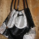 Lady Handbag (#6068A Silver &Black colour) $69.99