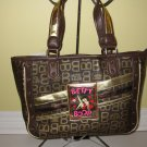Betty Boop HandBag #BB-106-5002 Brown & Gold $59.99