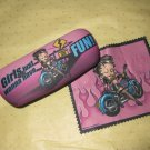 Betty Boop Biker eyeglass case(Girl Just wanna have Fun)#13637 On sale $19.99