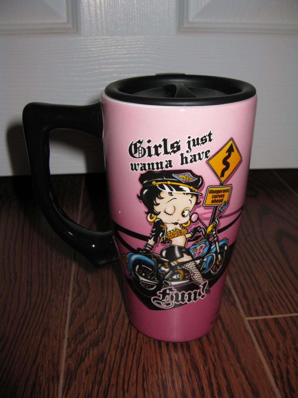 """Betty Boop Travel Mug """"Girls just wanna have Fun!""""#12032 $19.99"""