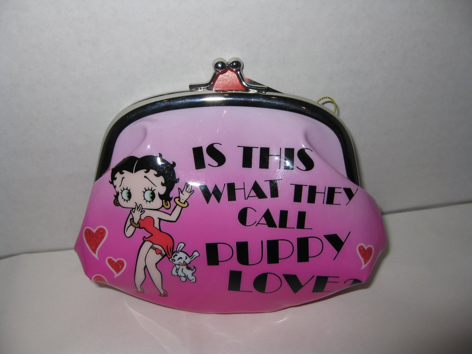 """is this what they call puppy love?""  Betty Boop coin purse $14.99 #20125"