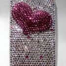 3D pink heart crystal iphone 4G/4S case $49.99 #H0021B