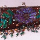 brown satin evening bag covered in bead/sequins detail $69.99 #EV13