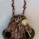 Copper  and lace covered victorian evening bag $39.99 #EV31