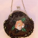 Brown Beaded Victorian Evening Bag $49.99 #EV40