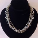 Freshwater Pearl & Crystal necklace &earring set $59.99 #NF050B