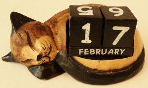 Small Cat Calendar $16.99 #22943bre(brown)
