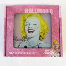 Marilyn Monroe glass coaster set $29.99 #5343