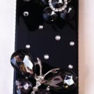 Black Embellished snap on iphone 4G/4S case $45.00 Sale:$29.99 #PC3D019