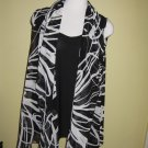 black and white print vest w/black tank $69.99 #9106-7