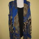 lapis blue/animal print tank top w/ vest. $69.99 #9106-4
