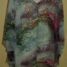 mulitcoloured chiffon tunic $69.99 #9108-2