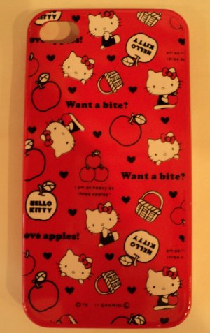 Hello Kitty red iphone4/4S case $24.99 #B61-03