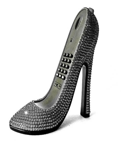 High Heel Shoe Phone $79.99 #J3620Silver