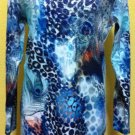 Blue Peacock/Cheetah print sweater $69.99 #T2042-2