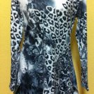 Black and white Cheetah print long sleeve Sweater $69.99 #T1688-5