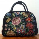 "Black carry on luggage, needle point ""carpet bag""  $49.99 #BG135-15-700"