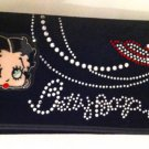 Velour Betty Boop Black Wallet w/ Rhinestones. $29.99 #36W-2406