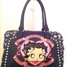 """Since 1930"" Purple Betty Boop handbag w/Rhinestones $65.00 #BBU-1507"