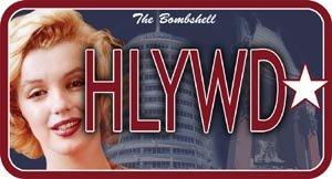 "Marilyn Monroe""HLYWD"" Licence Plate $14.99 #12071"