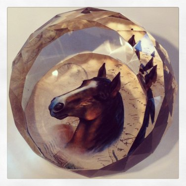 Horse diamond shaped paper weight $13.95 #V43-006