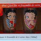 Betty Boop set of 4 16oz glasses $29.99#44004