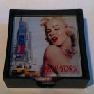 Marilyn Monroe Glass Coaster Set $18.99  #42-006