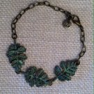 Metal, Green leaf bracelet $19.99 #138B588G