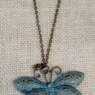 Metal, Blue Dragonfly necklace $29.99#131N327BL