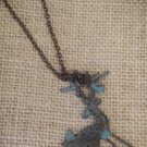 Blue, metal reindeer pendant with necklace $24.99 #138N611BL