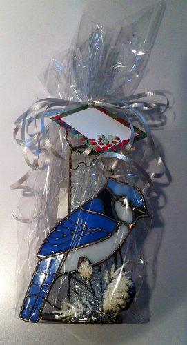 Stained Glass Blue Jay Tea Light Holder $16.99 #G846