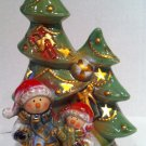 Ceramic Snowmen with ChristmasTree Lamp $24.99 #K473