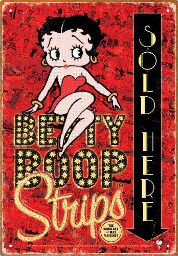 "Betty Boop ""comic strip"" tin sign $9.99 #30018"