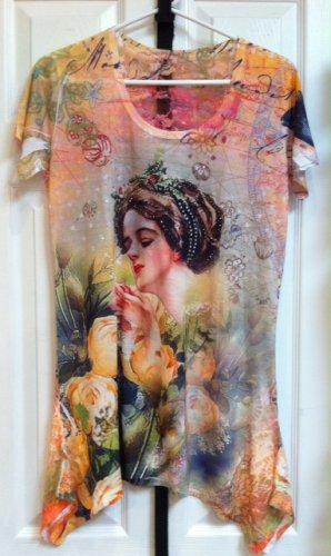 Floral Top with Woman's face $39.99 #120-93