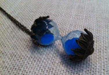 Blue sand hourglass necklace $24.99 #SPN-ML-327-blue