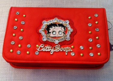 Betty Boop Coral Wallet w/Long Strip $34.99 #W-3013BPCOR