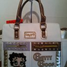 Betty Boop White Tote/Crossbody Bag $69.99 #BB485D-WHT