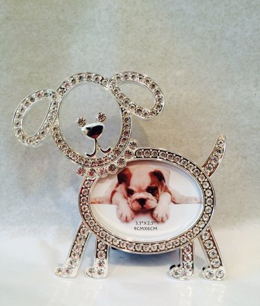 Crystal Dog Photo Frame $24.99 #SE1936D