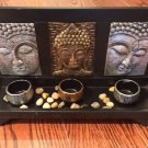 3 Buddha Face Tea Light Holder $29.99 #41398