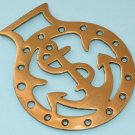 VINTAGE ENGLISH 'ANCHOR' PATTERN HORSE BRASS