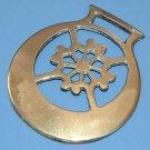 VINTAGE ENGLISH 'SNOWFLAKE' HORSE BRASS