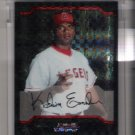 2004 BOWMAN CHROME KELVIM ESCOBAR ANGELS UNCIRCULATED XFRACTOR CARD