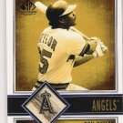 2002 UD SP LEGENDARY GAME BATS DON BAYLOR ANGELS BAT CARD